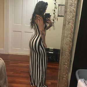 Sexy Striped Maxi Dress